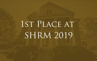 SHRM Competition 1st place