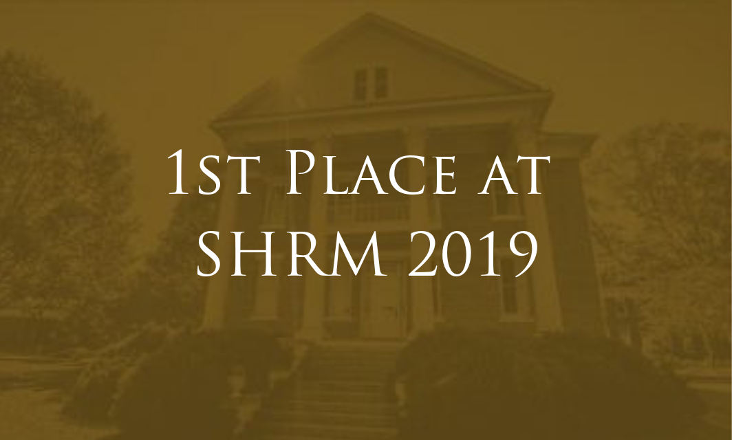 SHRM Competition 1st place