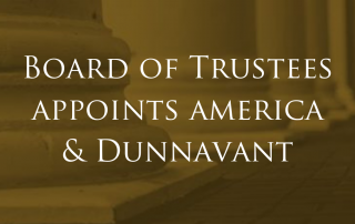Board of Trustees new Appointees