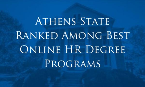 Online HR Degree Programs - Athens State Ranked