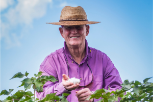 Jerry Newby with cotton