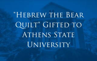 Quilt Gifted to Athens State University