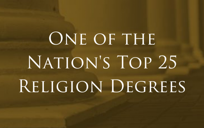 Athens State Top 25 Religion Degrees