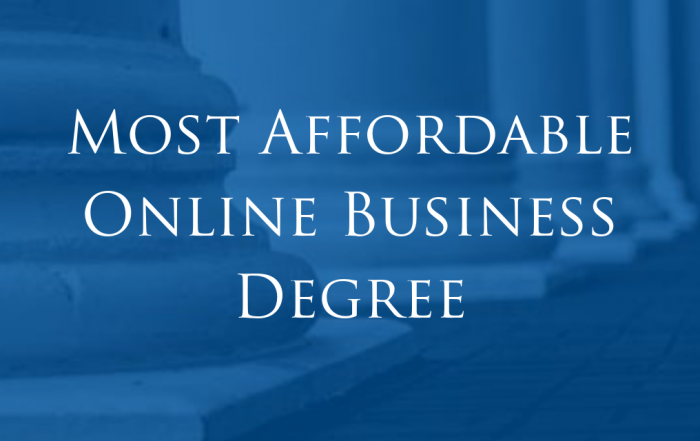Athens State Ranked Among Most Affordable Online Business Degree Programs