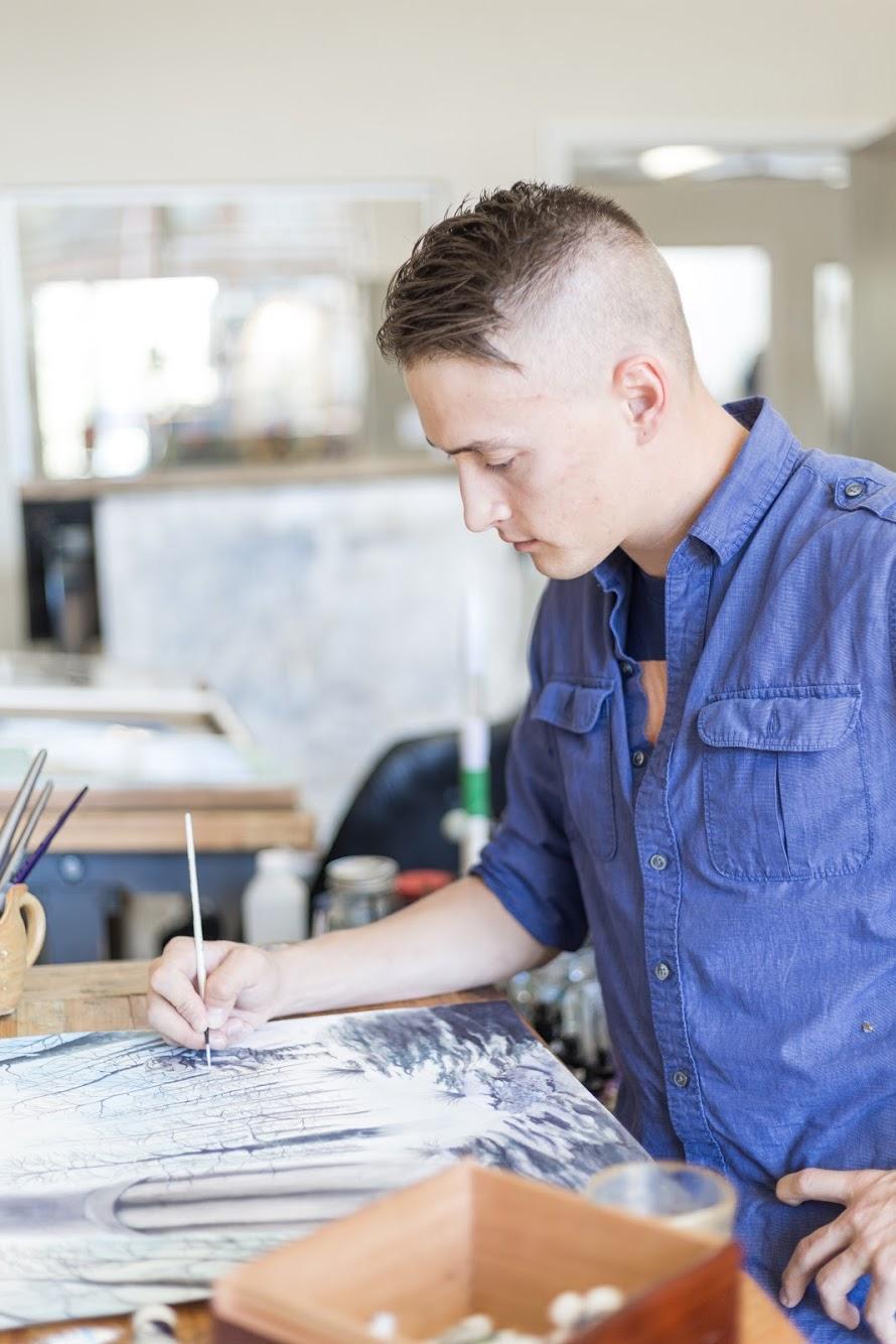 Chris Wade in studio